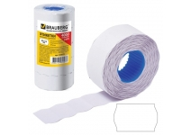 Этикет-лента 22х12 мм волна белая