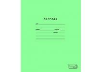 Тетрадь 12л. узкая косая линия зеленая
